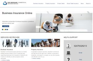 Insurance SEO campaign for SFB Needham Commercial Insurance